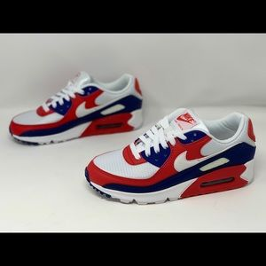 Nike Air Max 90 USA Red Blue Sneakers